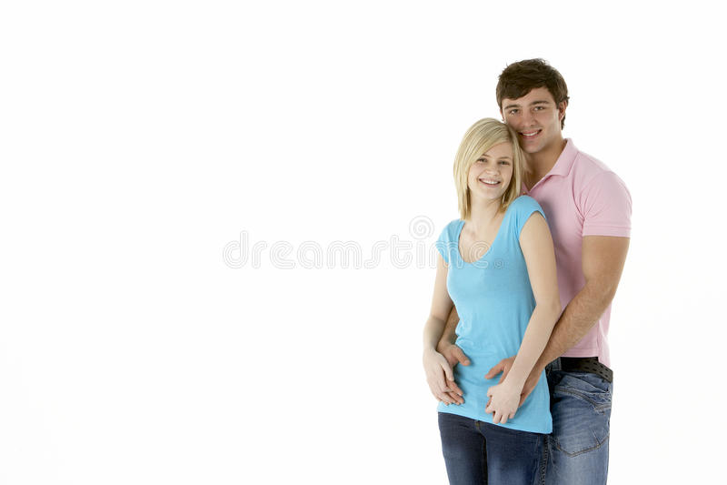 Download Teenage Couple In Studio stock photo. Image of people - 10400836