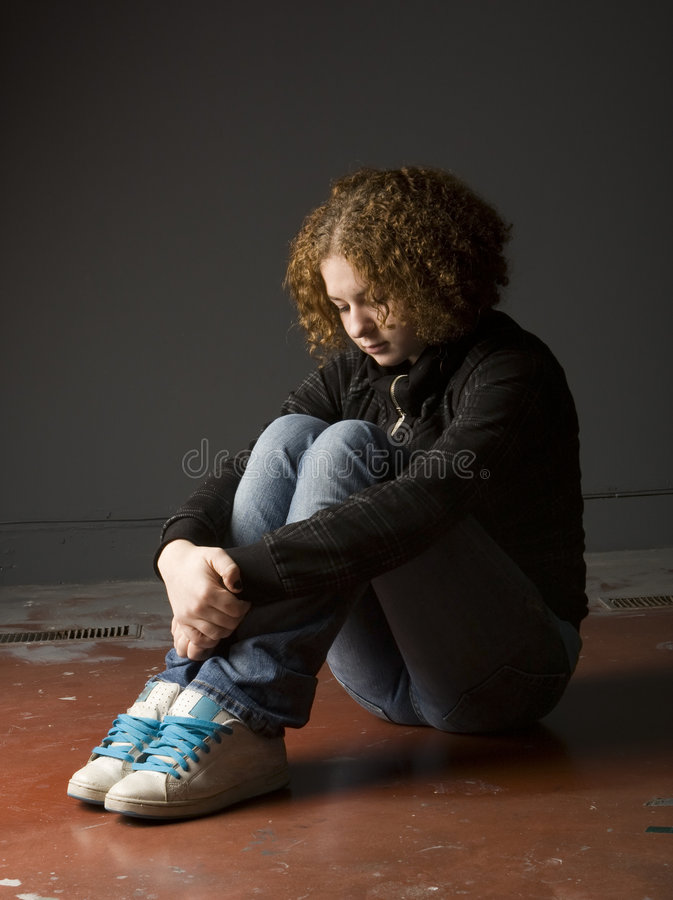 Download Teenage Depression stock photo. Image of emotion, jeans - 7520004