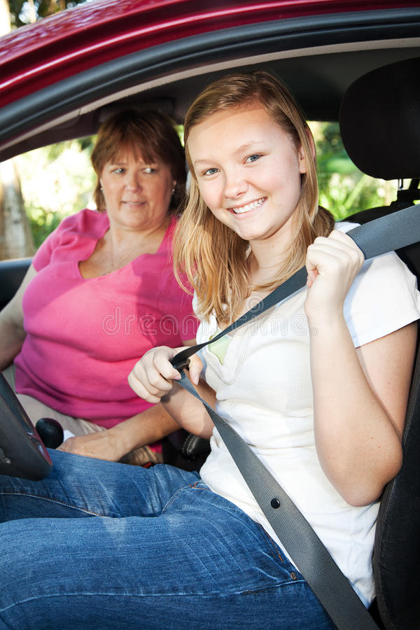 Download Teenage Driver Fastens Seatbelt Stock Photo - Image: 20022612