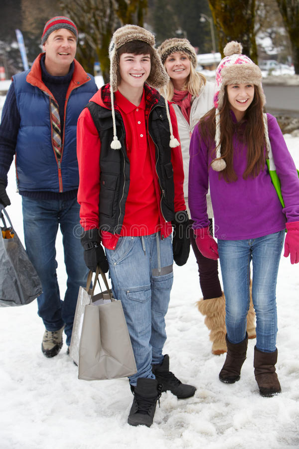 Download Teenage Family Carrying Shopping Stock Photo - Image: 24375060