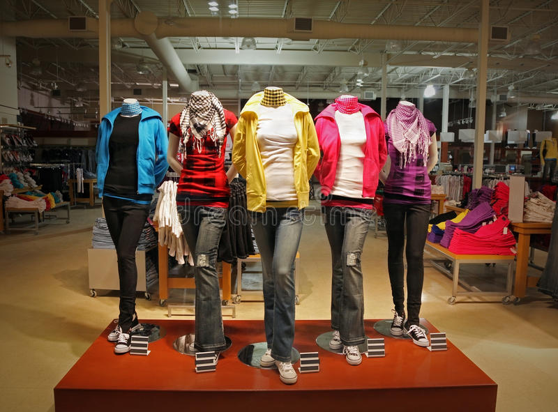 Teenage fashion store royalty free stock image