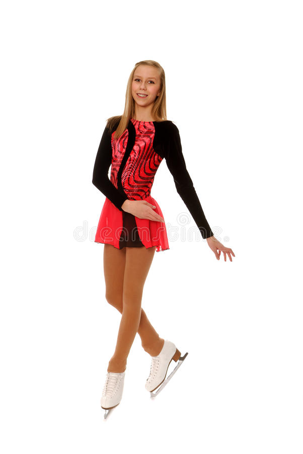 Teenage Figure Skater Stock Photos