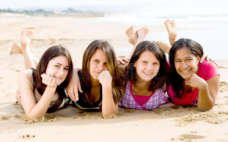 Download Teenage friendship stock photo. Image of attractive, ocean - 10971496