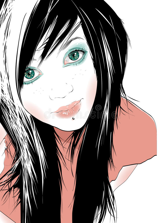 Download Teenage Girl stock illustration. Illustration of pretty - 12622111