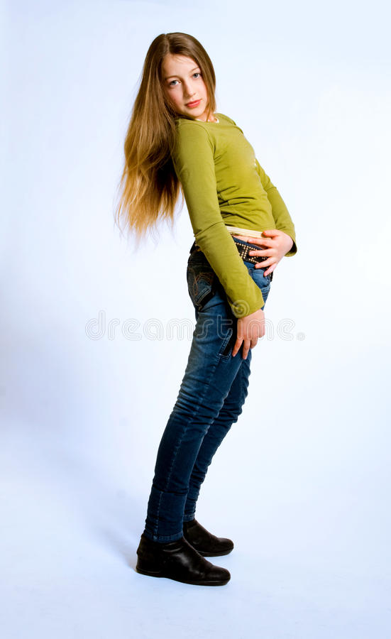 Download Teenage girl stock image. Image of young, tall, gesture - 13283435