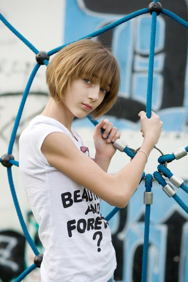 Download Teenage girl stock photo. Image of girl, shirt, beautiful - 13960136