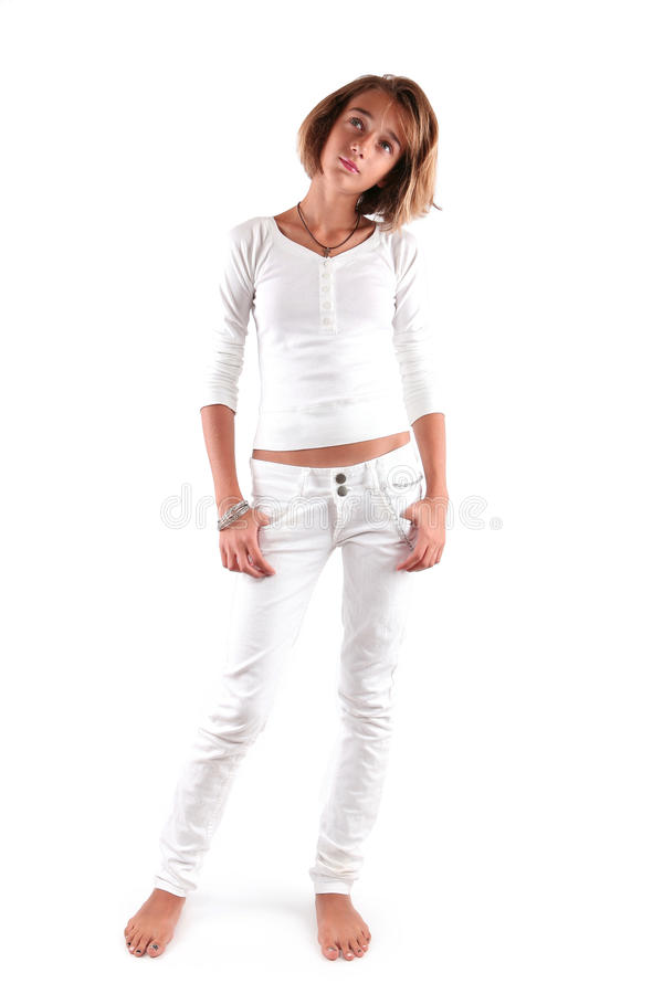 Download Teenage girl stock image. Image of background, body, chain - 16109485