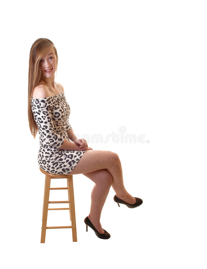 Teenage girl. stock images