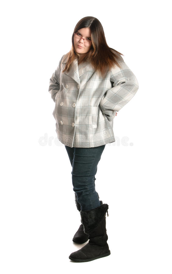 Teenage Girl With Attitude royalty free stock image