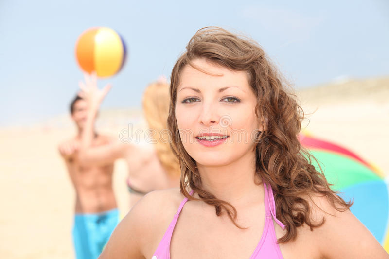 Download Teenage Girl At The Beach Royalty Free Stock Image - Image: 28720016