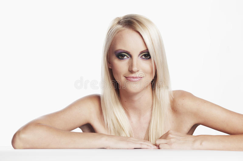 Teenage Girl with Blond Hair. Teenage Girl with Healthy Blond Hair royalty free stock photo