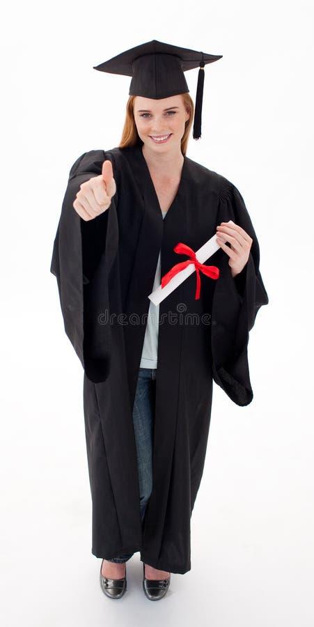 Download Teenage Girl Celebrating Graduation With Thumbs Up Stock Image - Image: 11932955