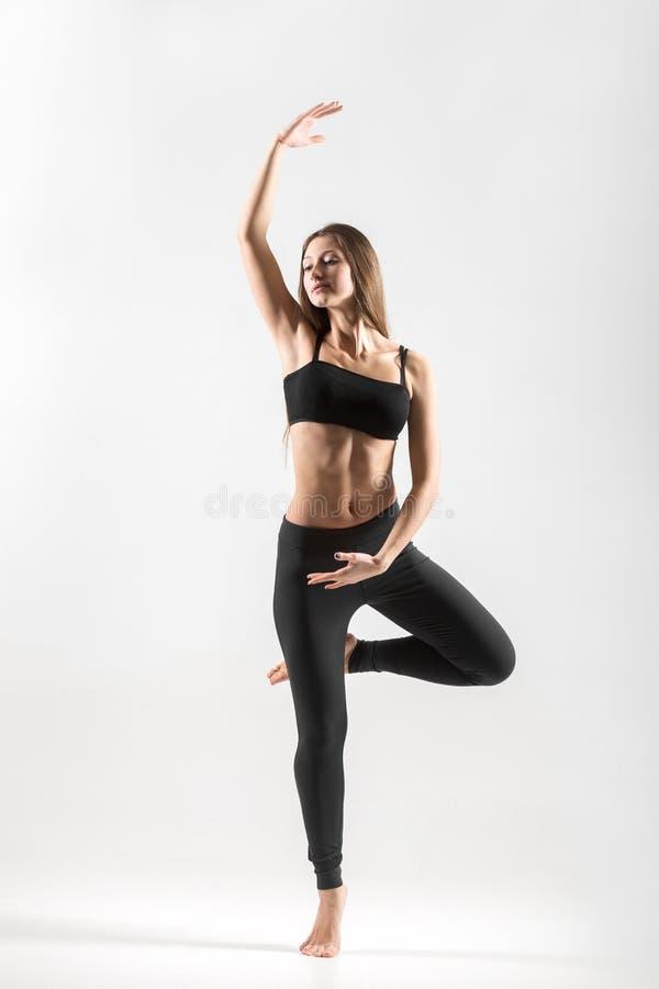 Teenage girl dance workout royalty free stock photo
