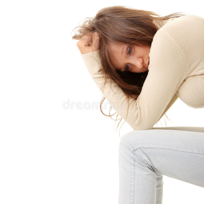Teenage girl depression - lost love royalty free stock image