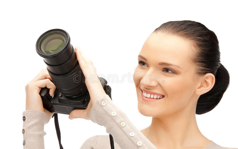 Download Teenage Girl With Digital Camera Royalty Free Stock Photos - Image: 22137698