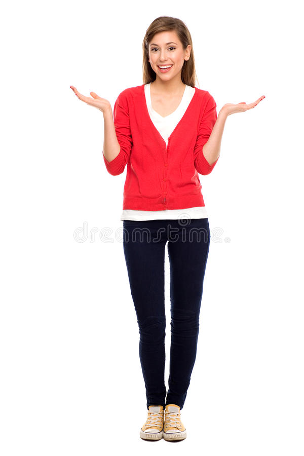 Download Teenage girl gesturing stock image. Image of student - 22232361