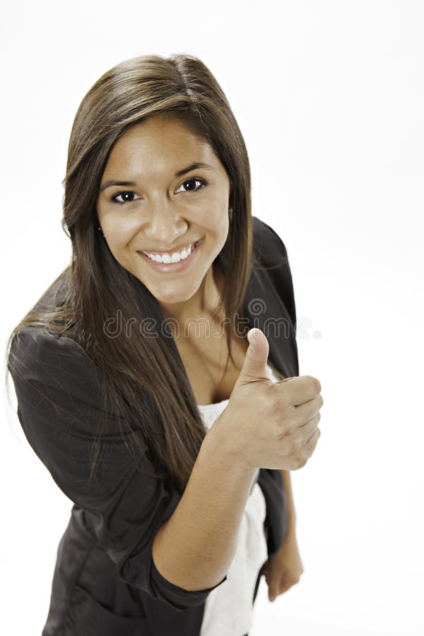 Download Teenage Girl Giving The Thumbs Up Sign Stock Photo - Image: 21467294