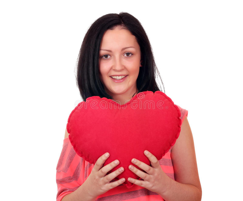 Download Teenage girl with heart stock photo. Image of romance - 27815398