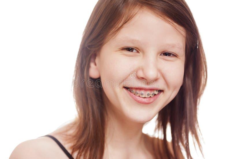 Teenage girl isolated royalty free stock image