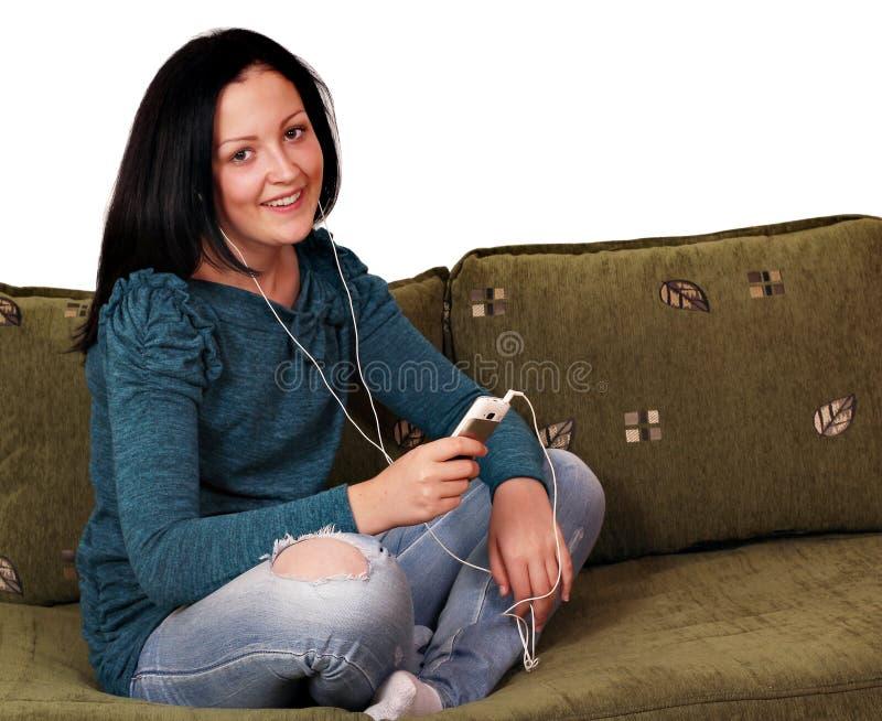 Download Teenage Girl Listening Music Stock Photography - Image: 27670132