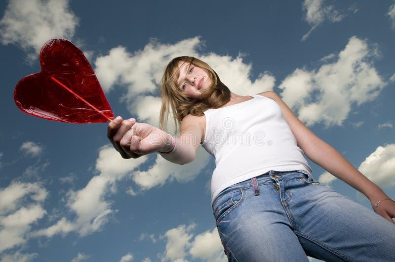 Teenage Girl With Lollipop Stock Image
