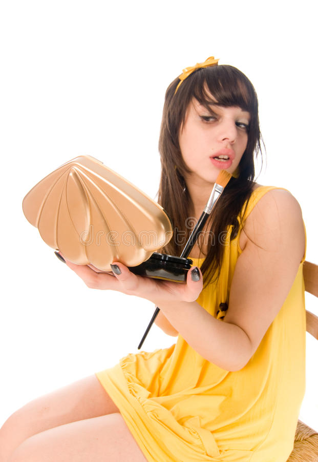 Download Teenage Girl Making Up Stock Photo - Image: 10366840