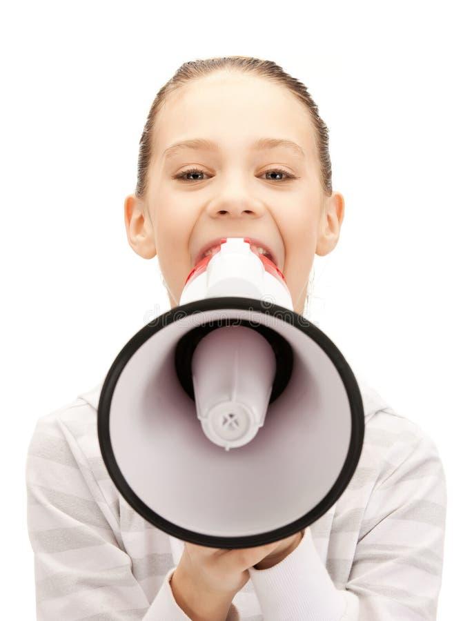Download Teenage Girl With Megaphone Stock Image - Image: 20069553
