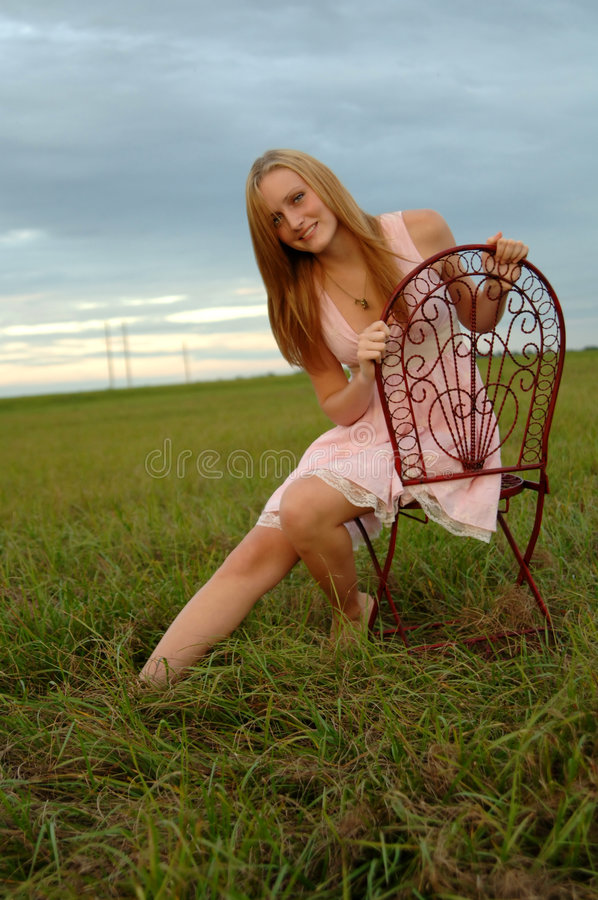 Download Teenage girl in nature stock photo. Image of green, relax - 6859628