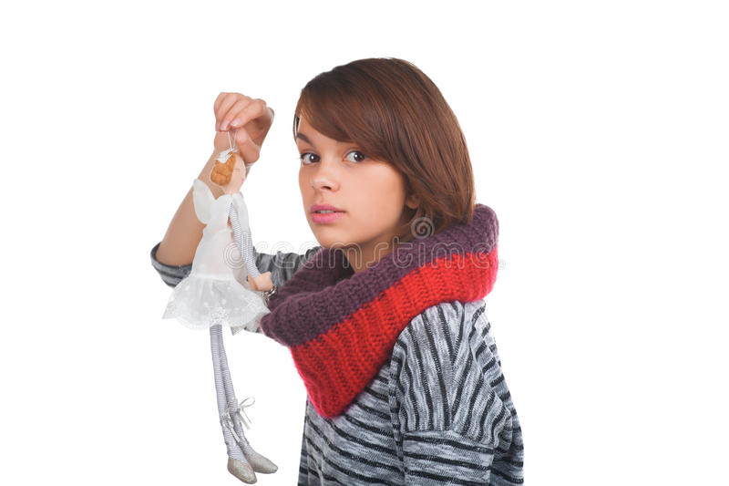 Download Teenage Girl With Nice Puppet Stock Image - Image: 35160925