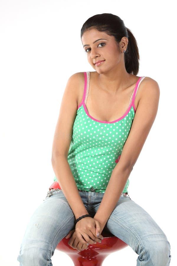 Free Teenage Girl On Chair Stock Photos - 13375953