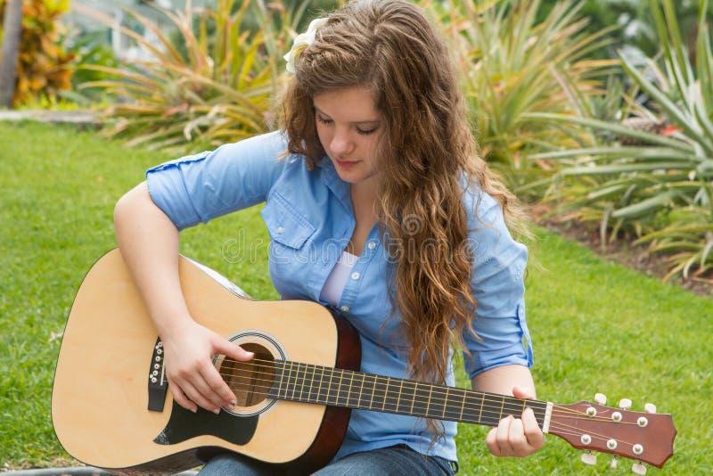 Download Teenage Girl Playing Guitar Stock Image - Image: 26854603