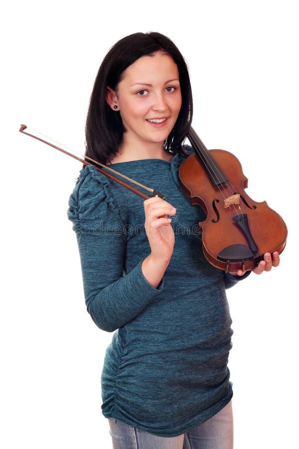 Download Teenage Girl Posing With Violin Royalty Free Stock Image - Image: 26818786