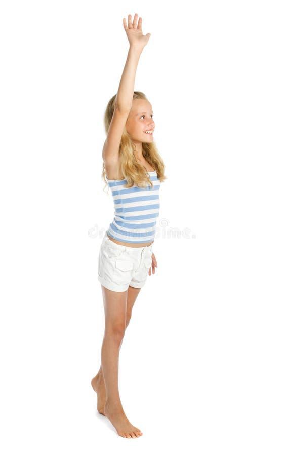 Teenage girl say hello royalty free stock photos