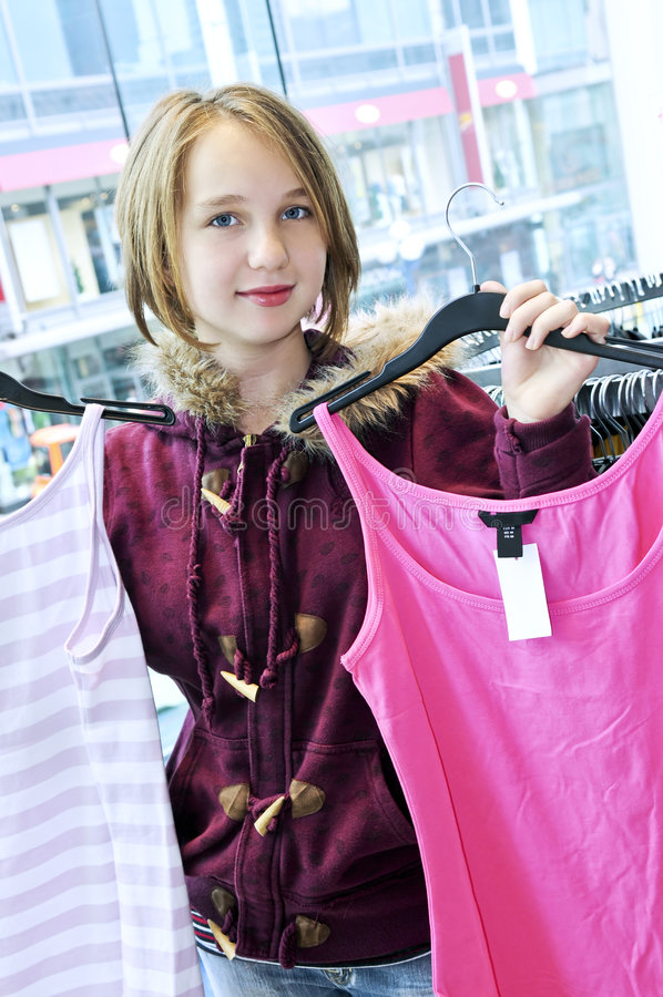 Download Teenage girl shopping stock image. Image of look, pretty - 5369789