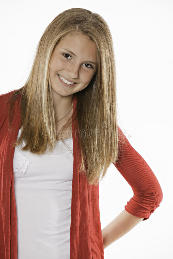Teenage Girl Showing Happiness royalty free stock photos