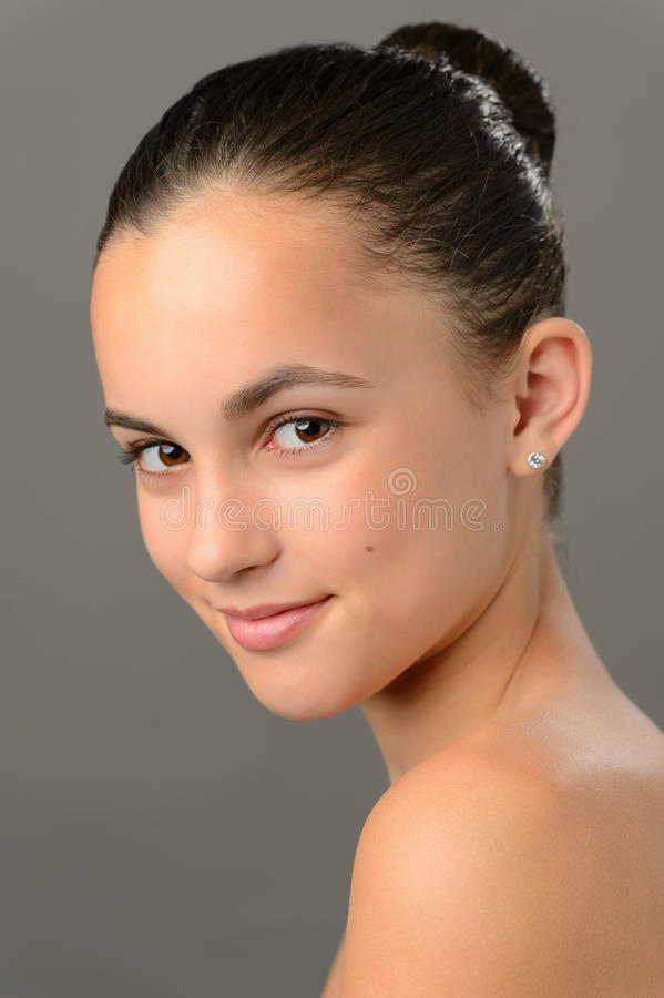 Teenage girl skin beauty romantic purity ballet royalty free stock images