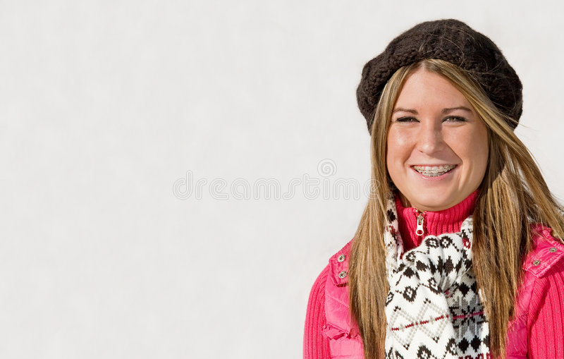 Teenage Girl Smiling royalty free stock photos