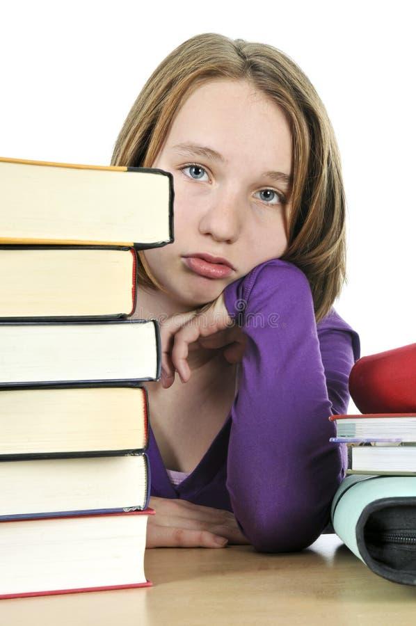Download Teenage girl studying stock image. Image of homework, education - 7474581