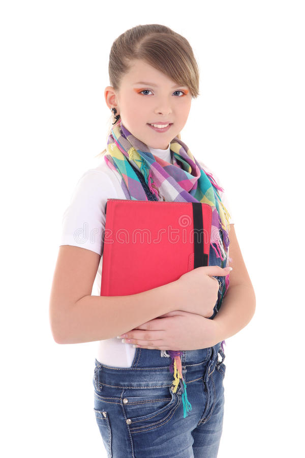 Teenage girl with tablet pc