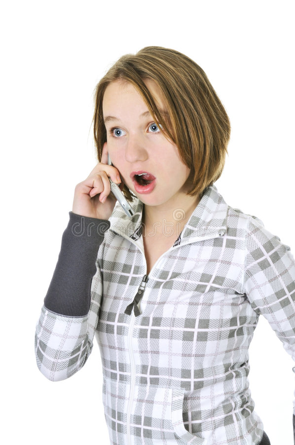 Download Teenage Girl Talking On Phone Stock Photo - Image of expression, cellphone: 7700930