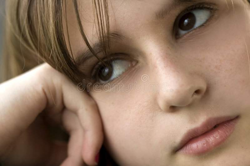 Teenage Girl in Thought royalty free stock images
