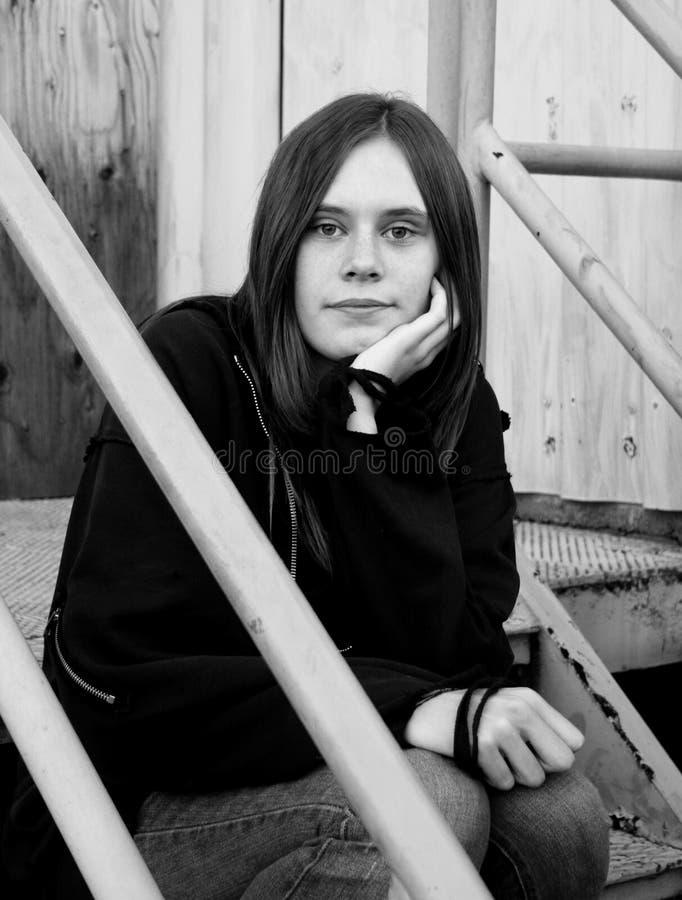 Download Teenage Girl In Urban Setting Stock Image - Image: 8650151