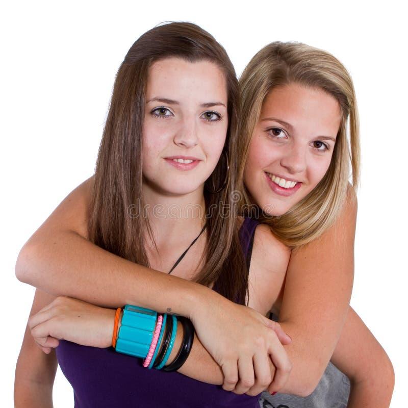 Teenage girlfriends stock photos