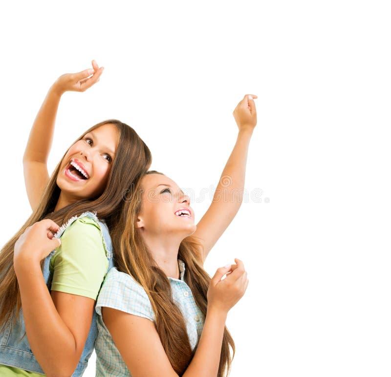 Teenage Girls Dancing royalty free stock photos