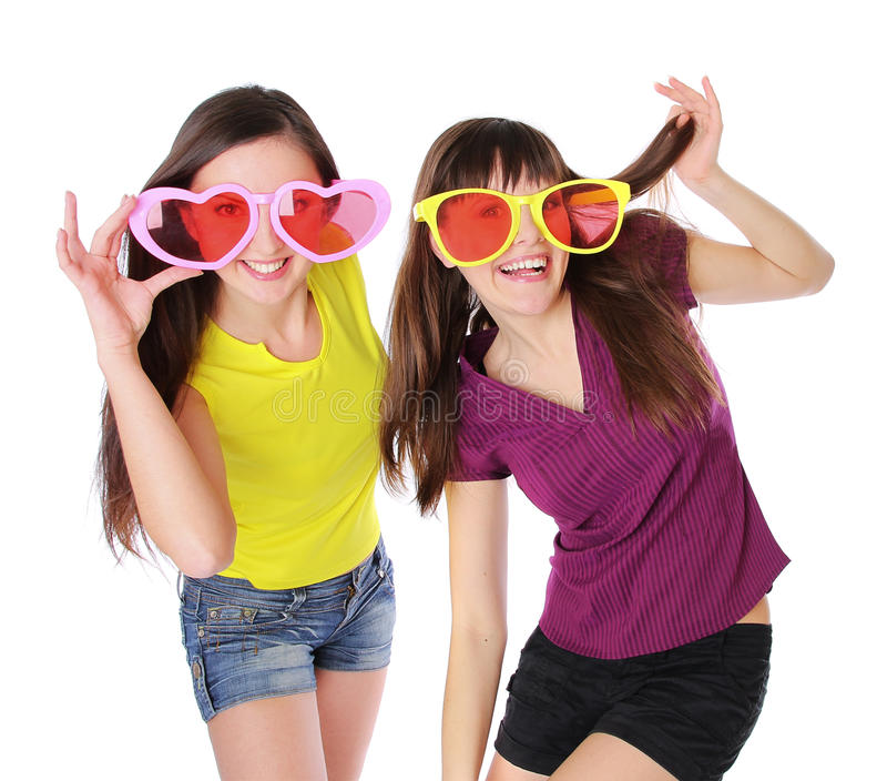 Teenage girls is fun stock photo