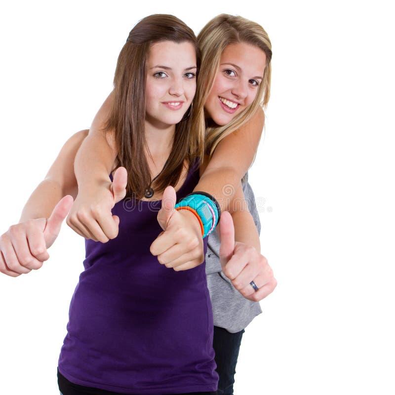 Teenage happy friends stock photo