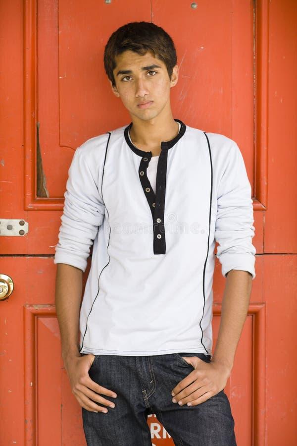 Download Teenage Indian Boy stock image. Image of pimple, doorway - 15270707