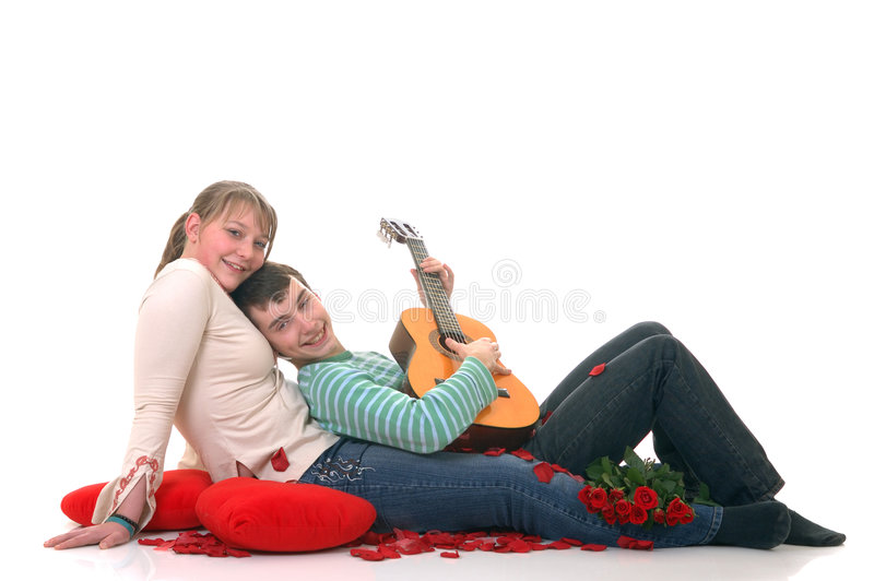 Teenage lovers royalty free stock images