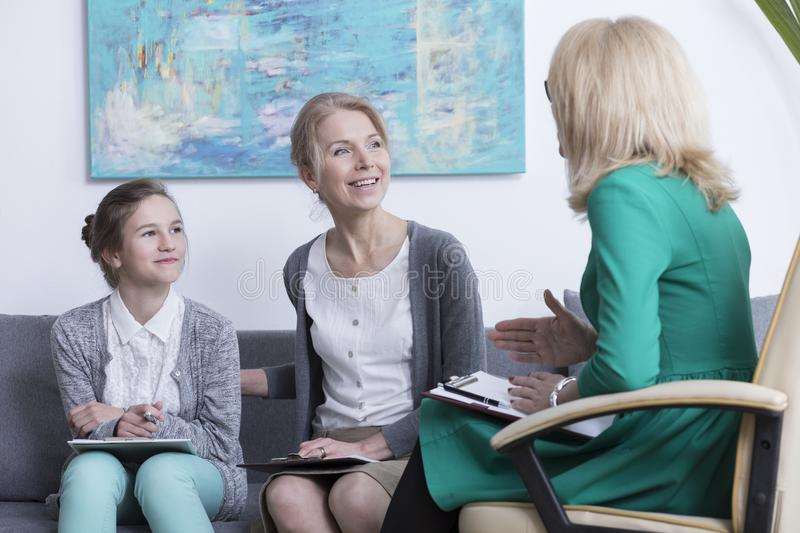 Teenage mental health and counseling stock image