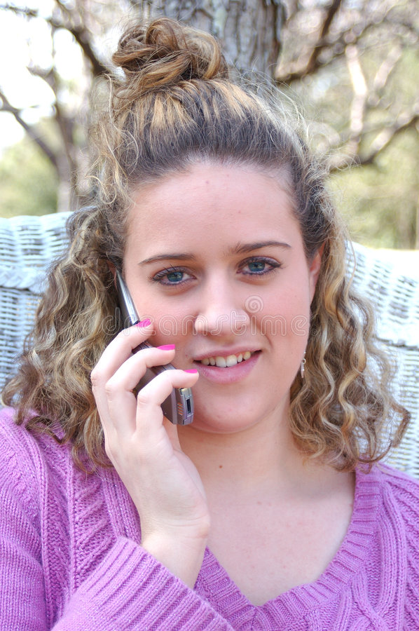 Download Teenage obsession stock image. Image of cellular, girl - 504199